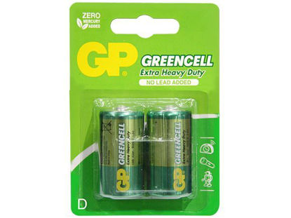 Picture of GP Batteries Greencell - D  2 pcs.