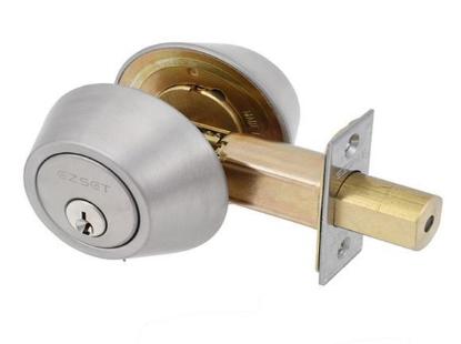 Picture of Ezset Cylinder Antique Brass Double Deadbolt EZ210DUS5