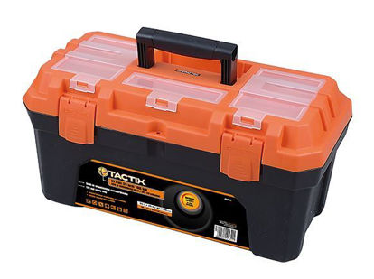 Picture of Tactix Plastic Tool Box - 4.5kg, Black