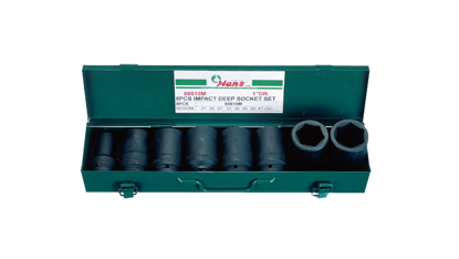 "Picture of Hans 1"" Drive 8 Pcs. Deep Impact Socket Set - 88610 - Metric Size"