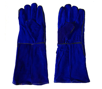 "Picture of S-Ks Tools USA 14"" Genuine Cowhide Welding Gloves (Blue)"