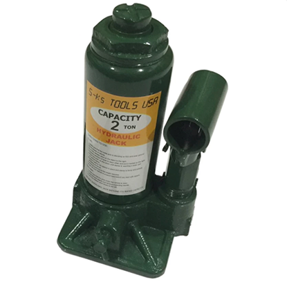 Picture of S-Ks Tools USA JM-1002SH 2 Tons Hydraulic Bottle Jack (Green)