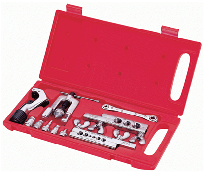 Picture of Asian First Brand CT-278L Flaring and Swagging Tool Set with Ratchet Wrench and Imperial Type Tube Cutter