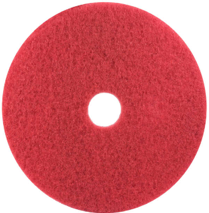 "Picture of 3M 5100 20"" Red Buffing Floor Pad - 5/Case"