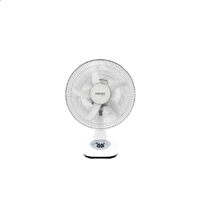 "Picture of Firefly 14"" Oscillating Multi-speed Fan with USB Mobile Phone Charger& 4 LED Night Light FEL618"
