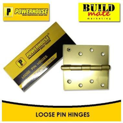 Picture of Powerhouse Loose Pin Hinges Brass