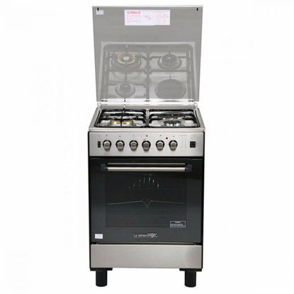 Picture of La Germania FS6031 21XTR 60cm range, 3 Gas + 1 Electric Hotplate   Gas Thermostat Oven with Safety Device │ Electric Grill with Rotisserie