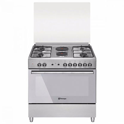 Picture of Tecnogas TFG9242CRVSS 90cm Range, 4 Gas Burners + 2 Fast Heating Electric Plates │ Gas Oven + Gas Grill │ Rotisserie