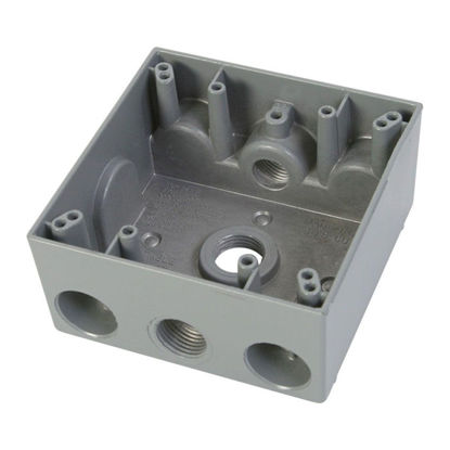 Picture of 2 Gang Rectangular WP Box 2G50-5