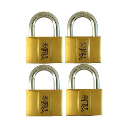Picture of Brass Padlocks Key Alike 4 Pieces, Multi-Pack V140.40KA4
