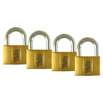 Picture of Brass Padlocks Key Alike 4 Pieces, Multi-Pack V140.30KA4