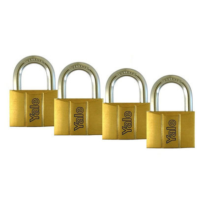 Picture of Brass Padlocks Key Alike 4 Pieces, Multi-Pack V140.25KA4