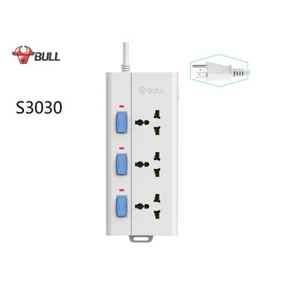 Picture of Bull Extension Board 3 Outlets and 3 Switches, S3030