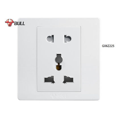 Picture of Bull 2 Gang Universal Outlet Set (White), G06Z225