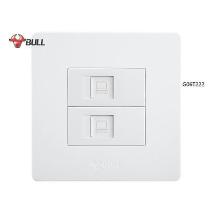 Picture of Bull 2 Gang Computer Modular Outlet Set (White), G06T222(T5)