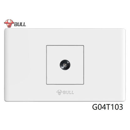 Picture of Bull 1 Gang TV Cable Outlet (White), G04T103