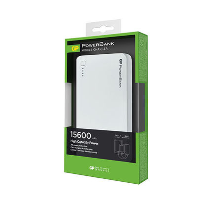 Picture of GP Portable Power Bank 15600 MAH White, GPGPACC3C15001